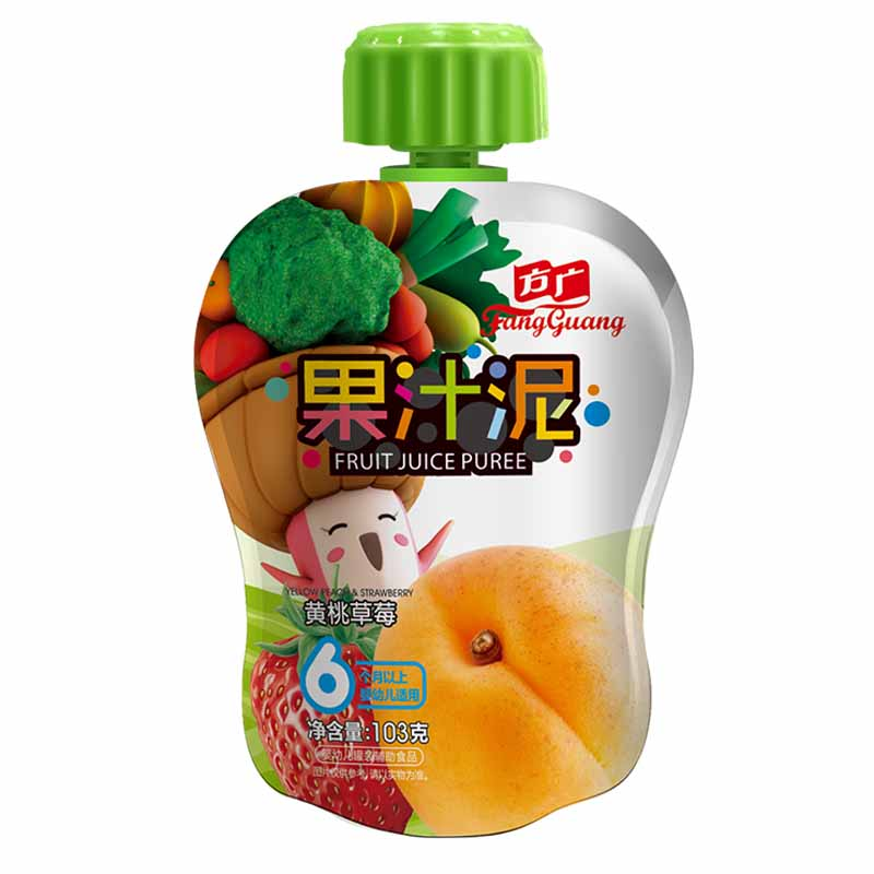 方广黄桃草莓果汁泥袋装6个月以上103g