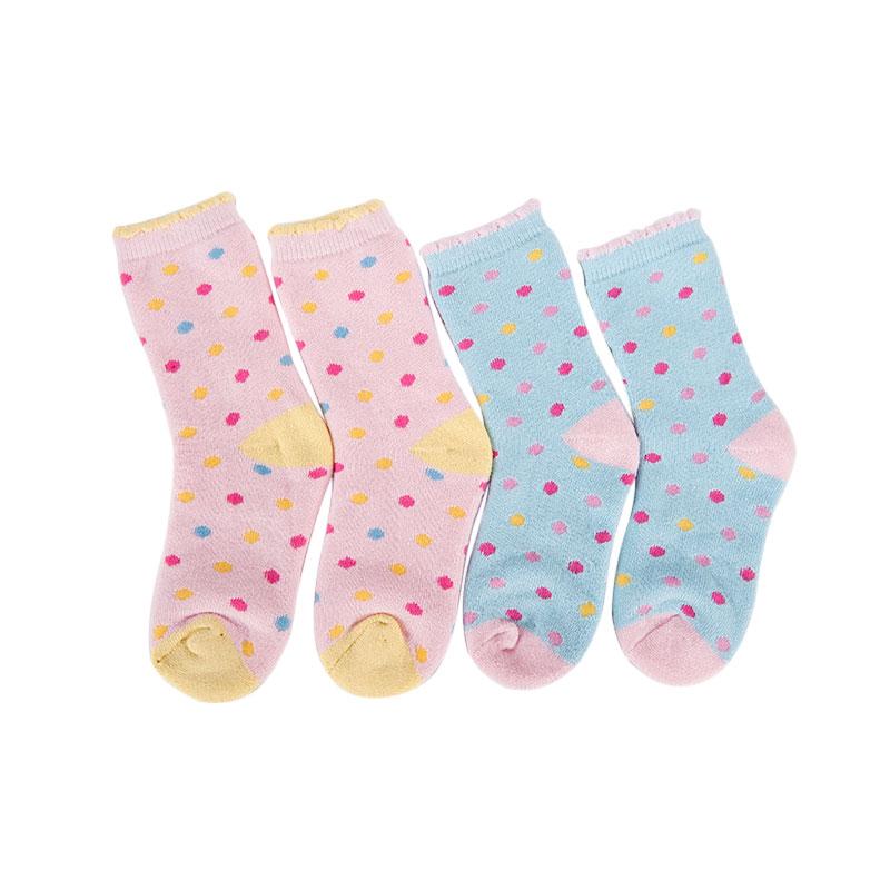 歌瑞贝儿图案系列女童中袜(2双装)