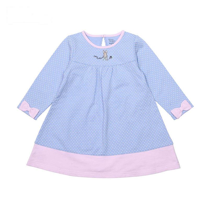 歌瑞家(比得兔)A类女童花色梭织连衣裙