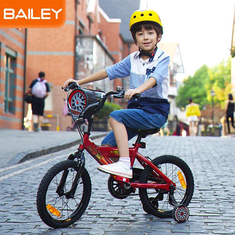 贝乐童车迪士尼系列汽车总动员轮胎盒自行车14寸 红色