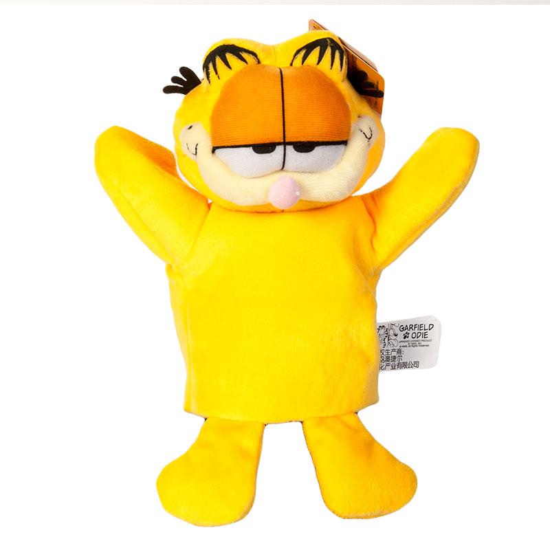 澳捷尔加菲猫手偶安抚娃娃婴儿毛绒手偶手套儿童玩具