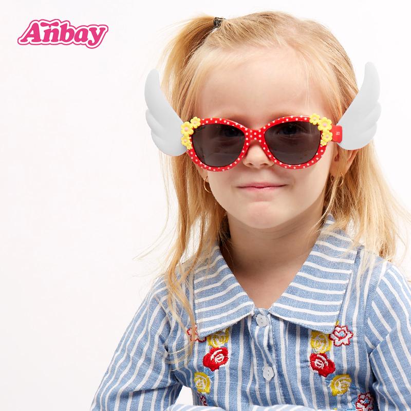 安比女童粉色儿童太阳镜