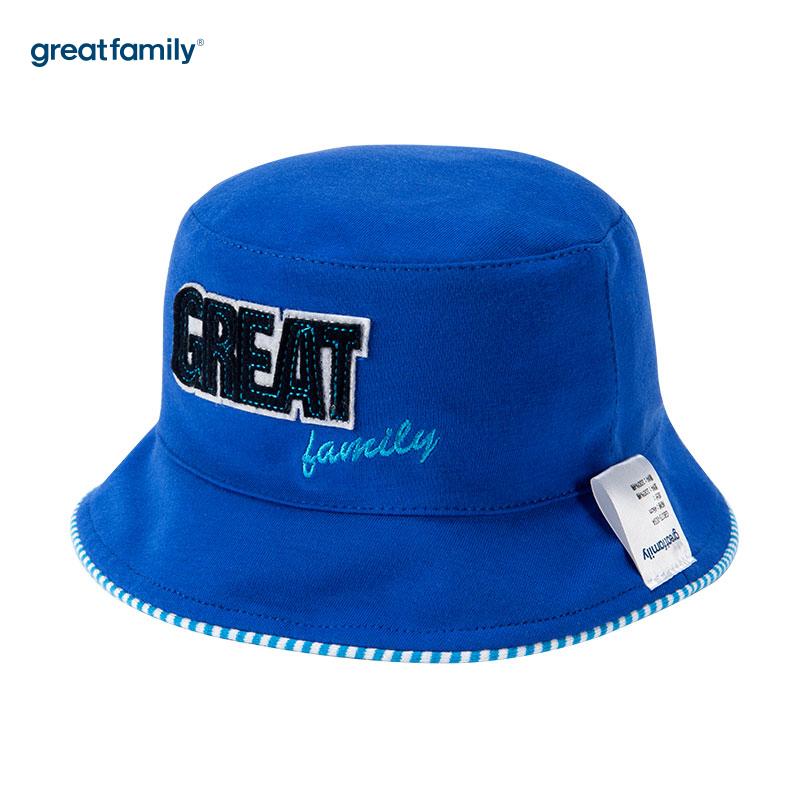 歌瑞家(Greatfamily)A类男童蓝色盆帽
