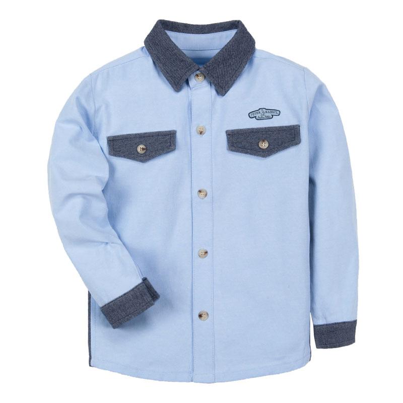 歌瑞家(比得兔)A类男童浅蓝梭织衬衫