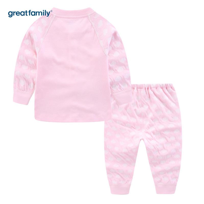 歌瑞家A类时尚双层提花系列粉色女对襟套装