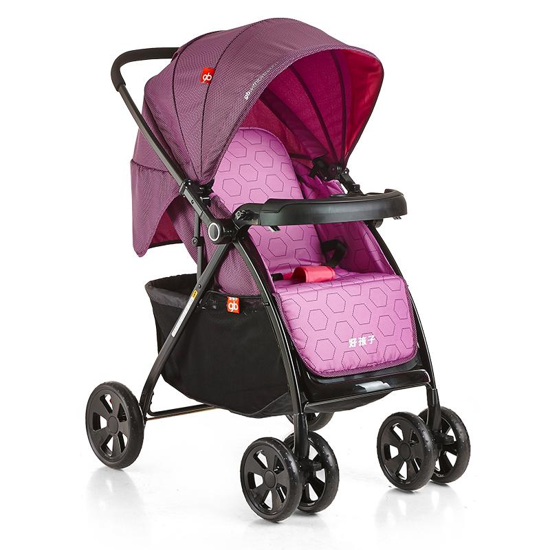 好孩子(gb)婴儿推车轻便折叠可躺可坐全篷双向避震手推车C300-N304RR