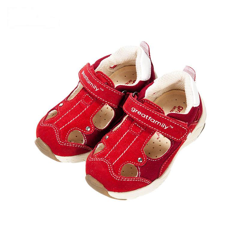 歌瑞凯儿女婴机能鞋GK162-001SH红13.5cm双