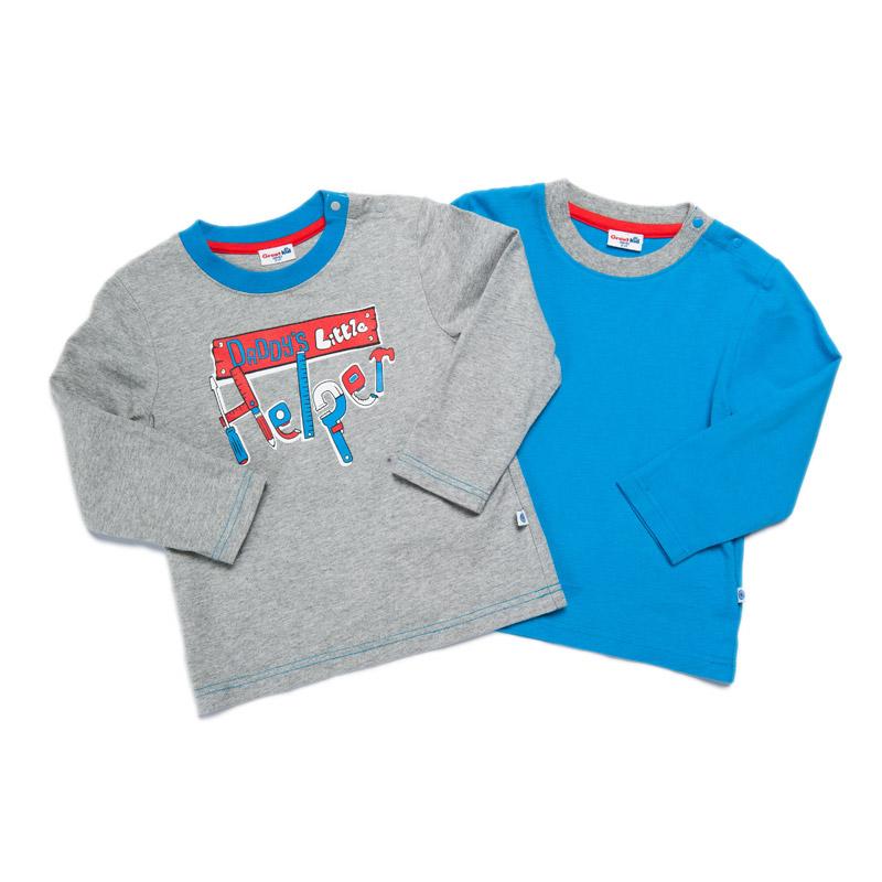 歌瑞凯儿-Great-Color-男童百搭圆领T恤-两件装90码