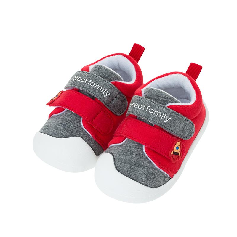 歌瑞贝儿(新)男婴宝宝鞋GBR4-007SH红12CM双