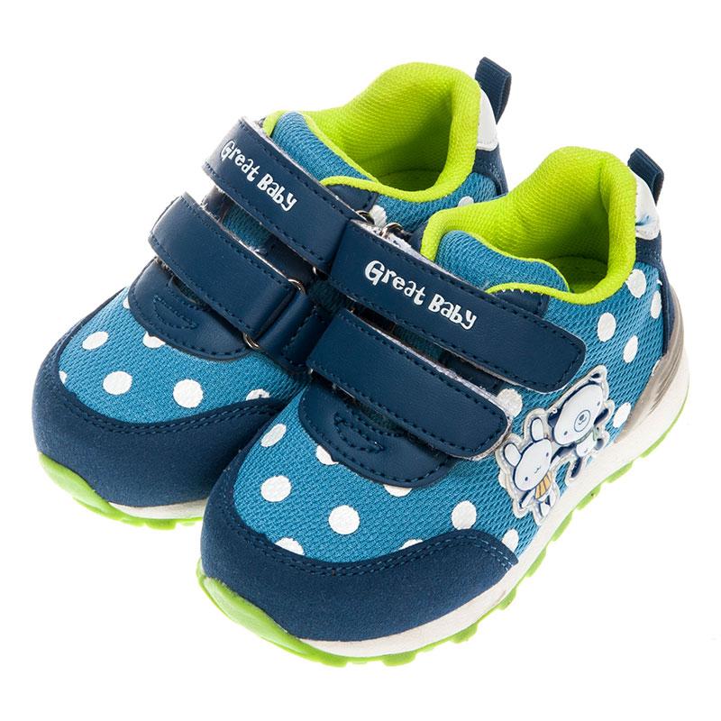 歌瑞贝儿男婴卡通运动鞋GB153-011SH蓝13.5cm双