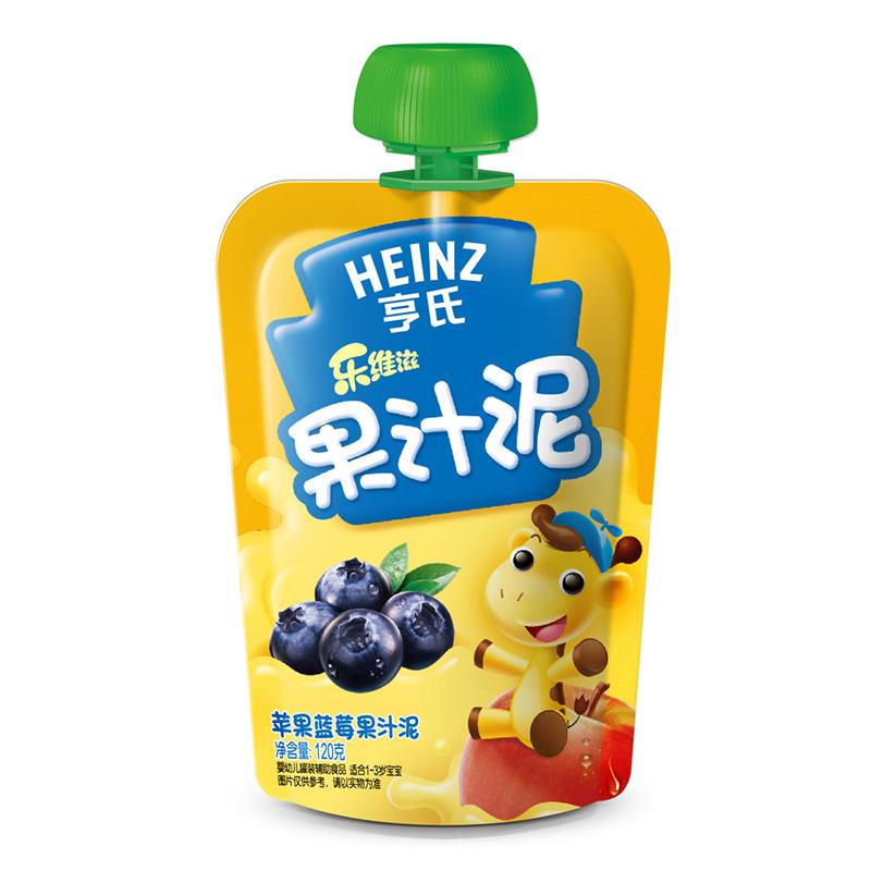 亨氏Heinz乐维滋果汁泥苹果蓝莓120g富含维生素C