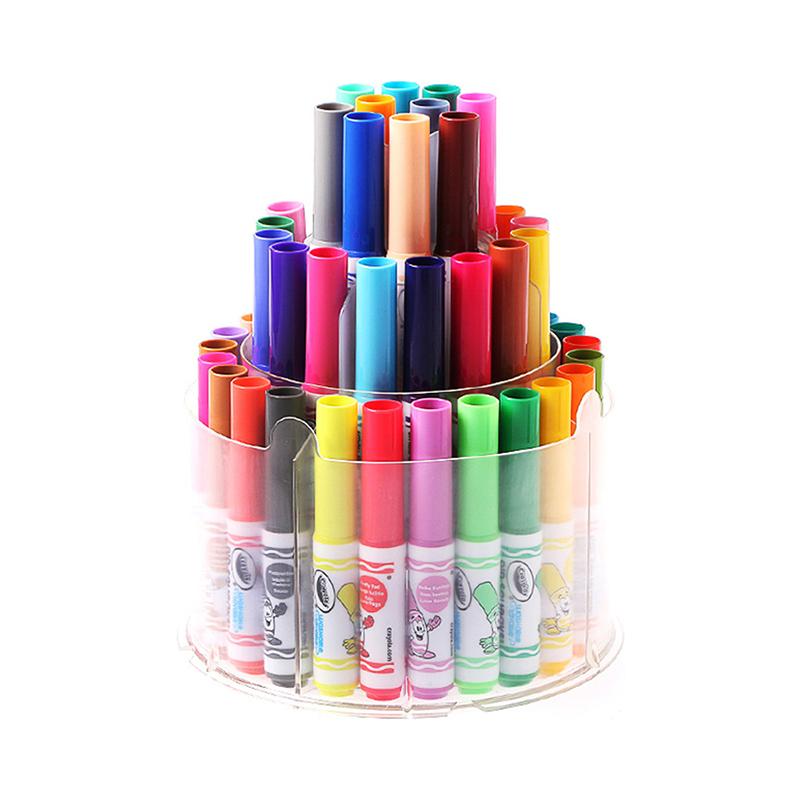 【全球购】美国Crayola绘儿乐50色可水洗伸缩水彩笔2岁以上保税区直发