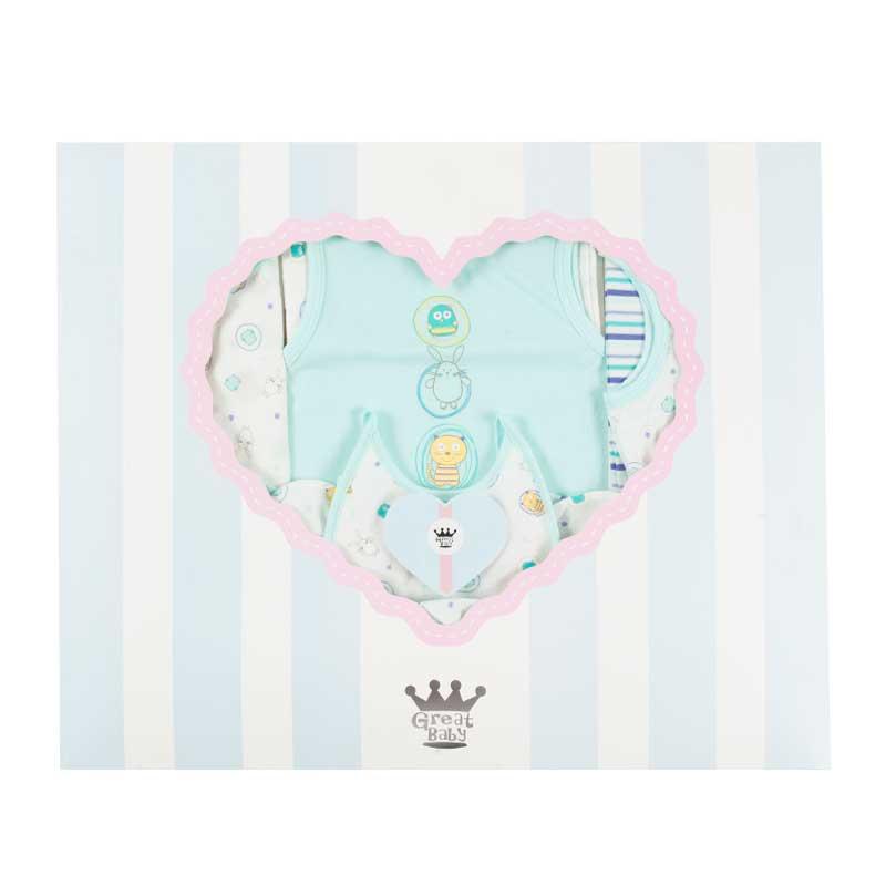 歌瑞贝儿新生儿100%纯棉礼盒15件套