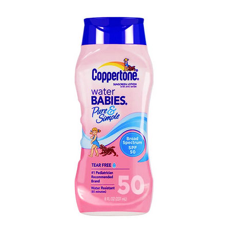 确美同(Coppertone)水宝宝纯净防晒霜 SPF50 237ml(温和滋润 防水防汗 隔离紫外线 PA   )