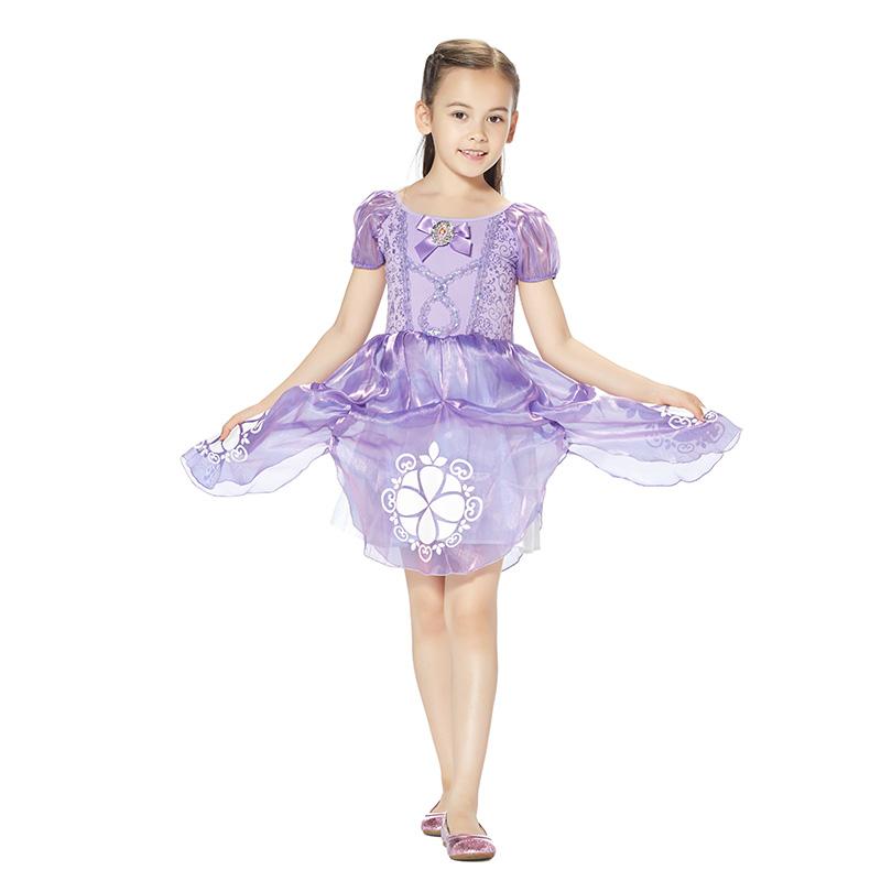 迪士尼苏菲亚公主连衣裙浅紫