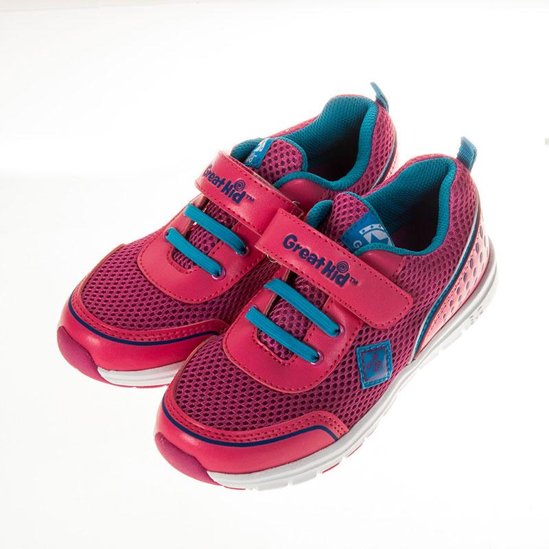 歌瑞凯儿休闲运动婴儿鞋梅红16码GK151-012SH