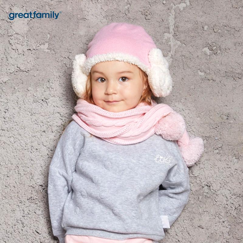 歌瑞家(Greatfamily)A类女童粉色围巾
