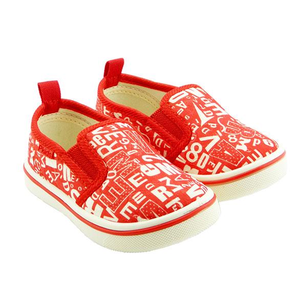 比士尼(新)--帆布休闲鞋M-016红16码双