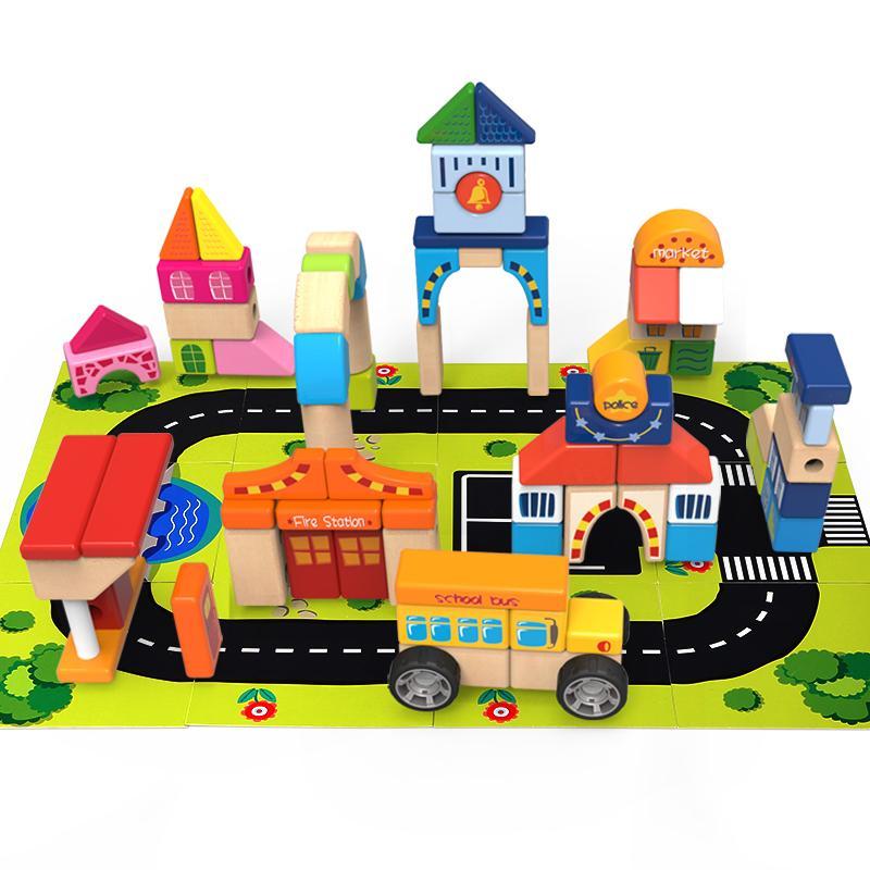 特宝儿(Topbright)TOUNO城市积木84粒 儿童积木益智玩具(1岁及以上适用)120114