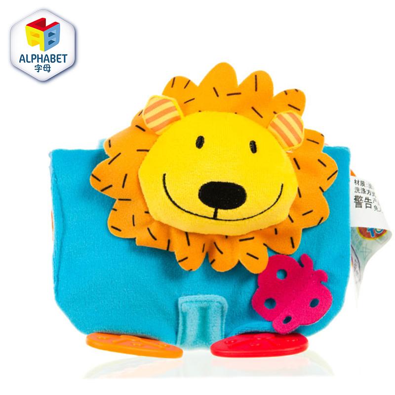 字母宝宝益智早教狮子小布书 带牙胶 益智毛绒玩具