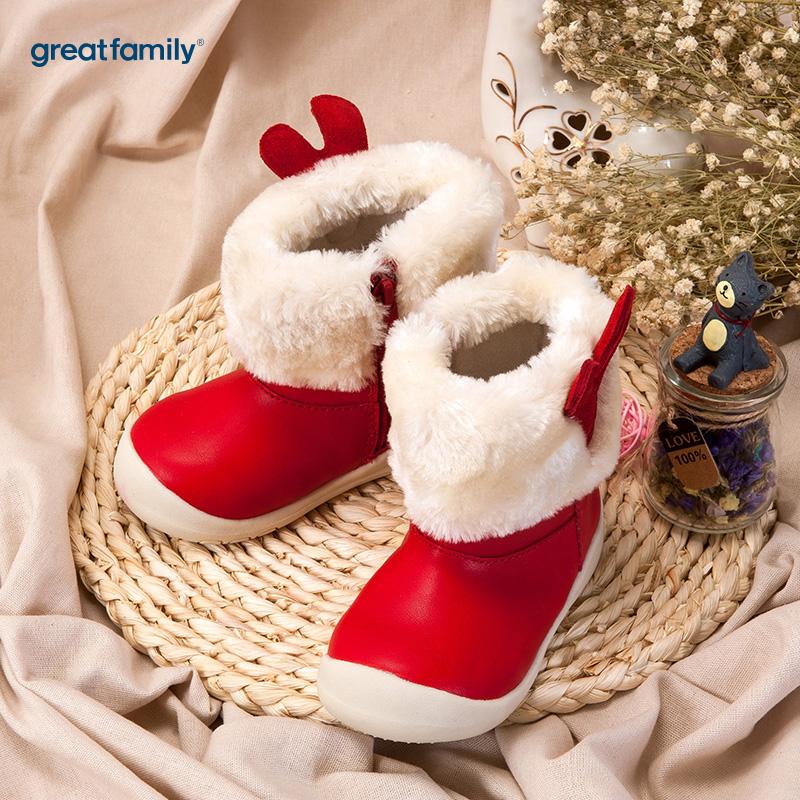 歌瑞家(greatfamily)女婴雪地靴红色