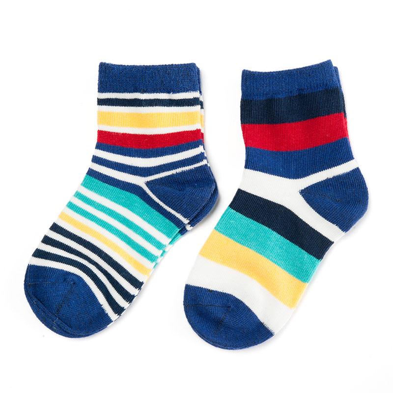 歌瑞贝儿(新)--时尚条纹袜/2双装GB141-013L混色12-24个月月包