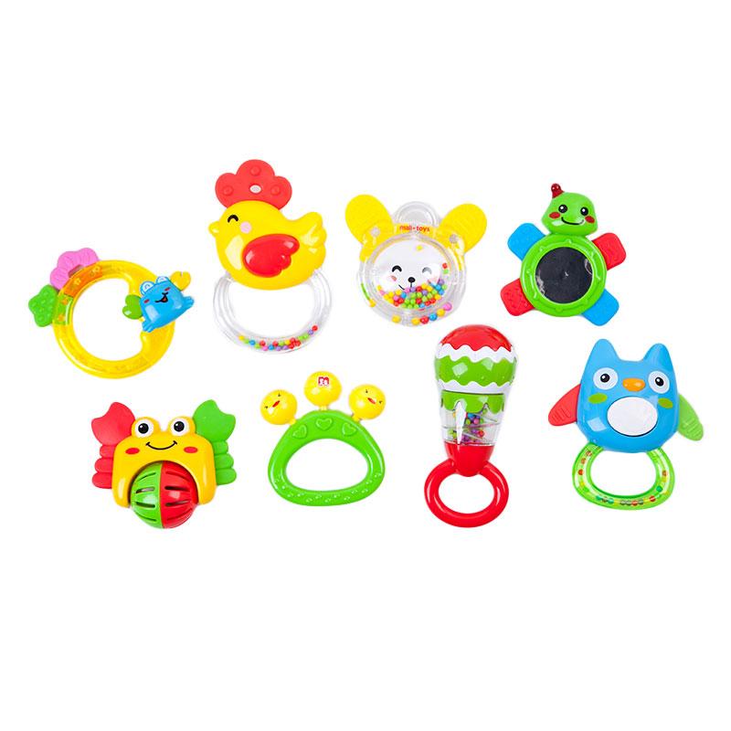 玛力(MALI-TOYS)婴幼健康启智玩具(八个装)彩色T9008