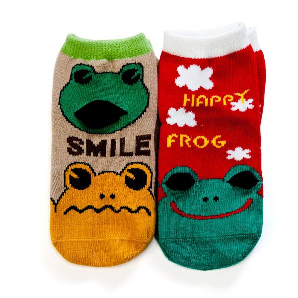 歌瑞贝儿(新)--小青蛙袜/2双装GB130-208混色0-6个月月包