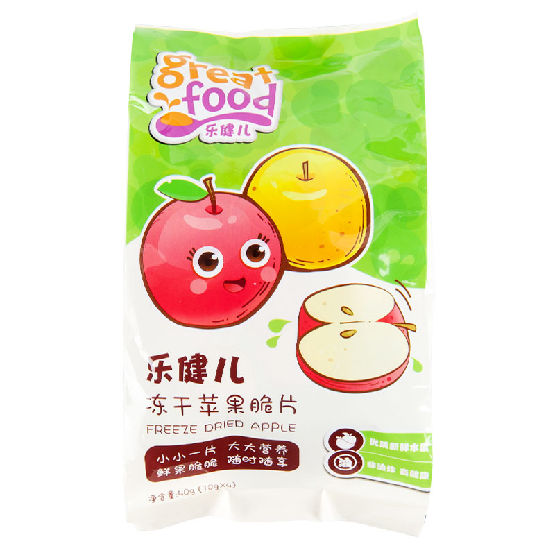 乐健儿GreatFood营养果蔬辅食系列(冻干苹果)40g/袋
