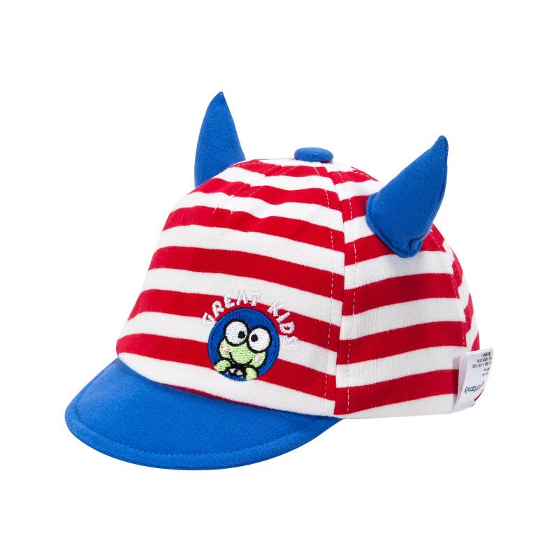 歌瑞家中性条纹牛角帽
