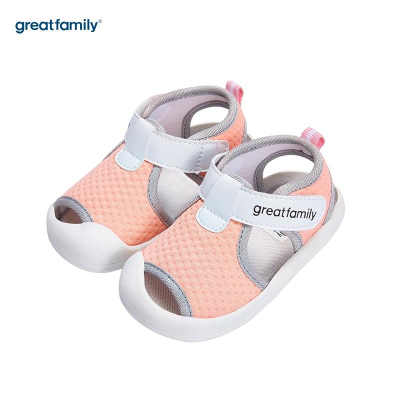 歌瑞家(greatfamily)女婴包头宝宝凉鞋GB182-002SH粉12CM双
