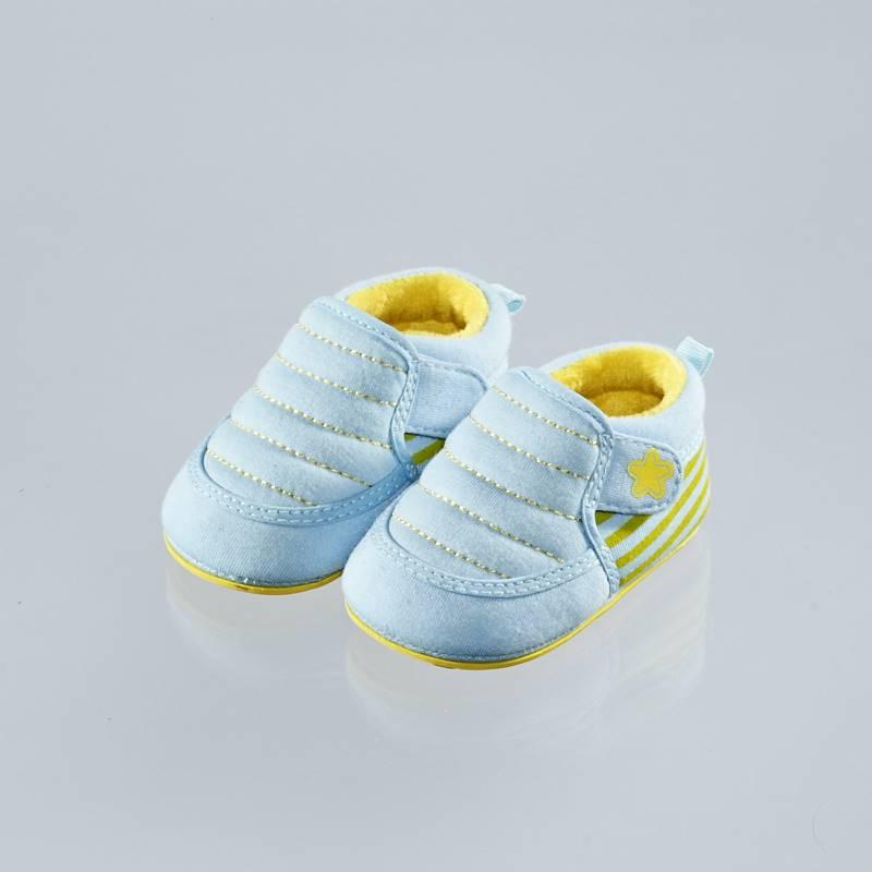 歌瑞贝儿(新)--小星婴儿鞋GB144-001SH蓝11CM