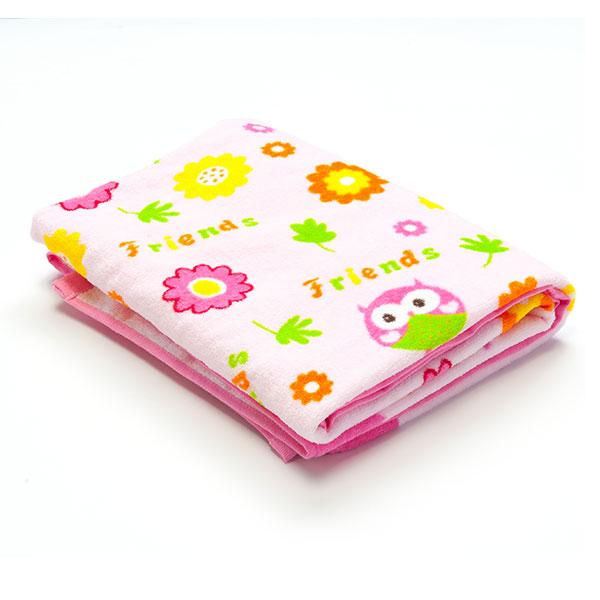 歌瑞贝儿(新)--小鸟割绒印花正方形浴巾GB130-248粉混码