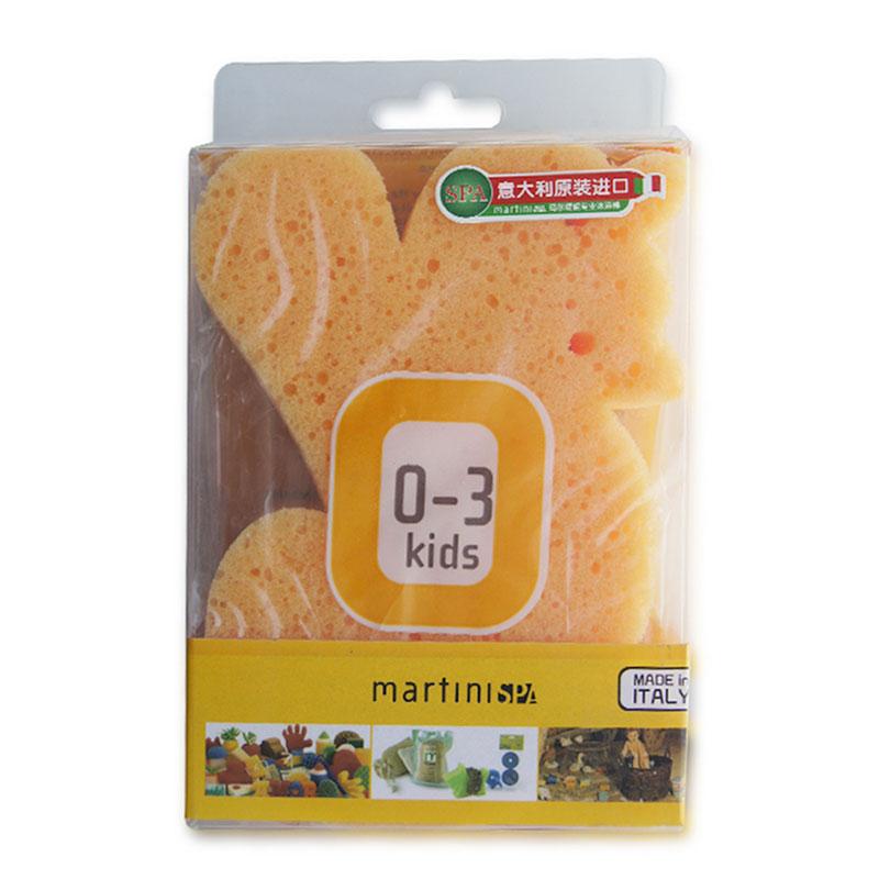 玛尔缇妮意大利原装进口婴幼儿Q版动物世界沐浴绵