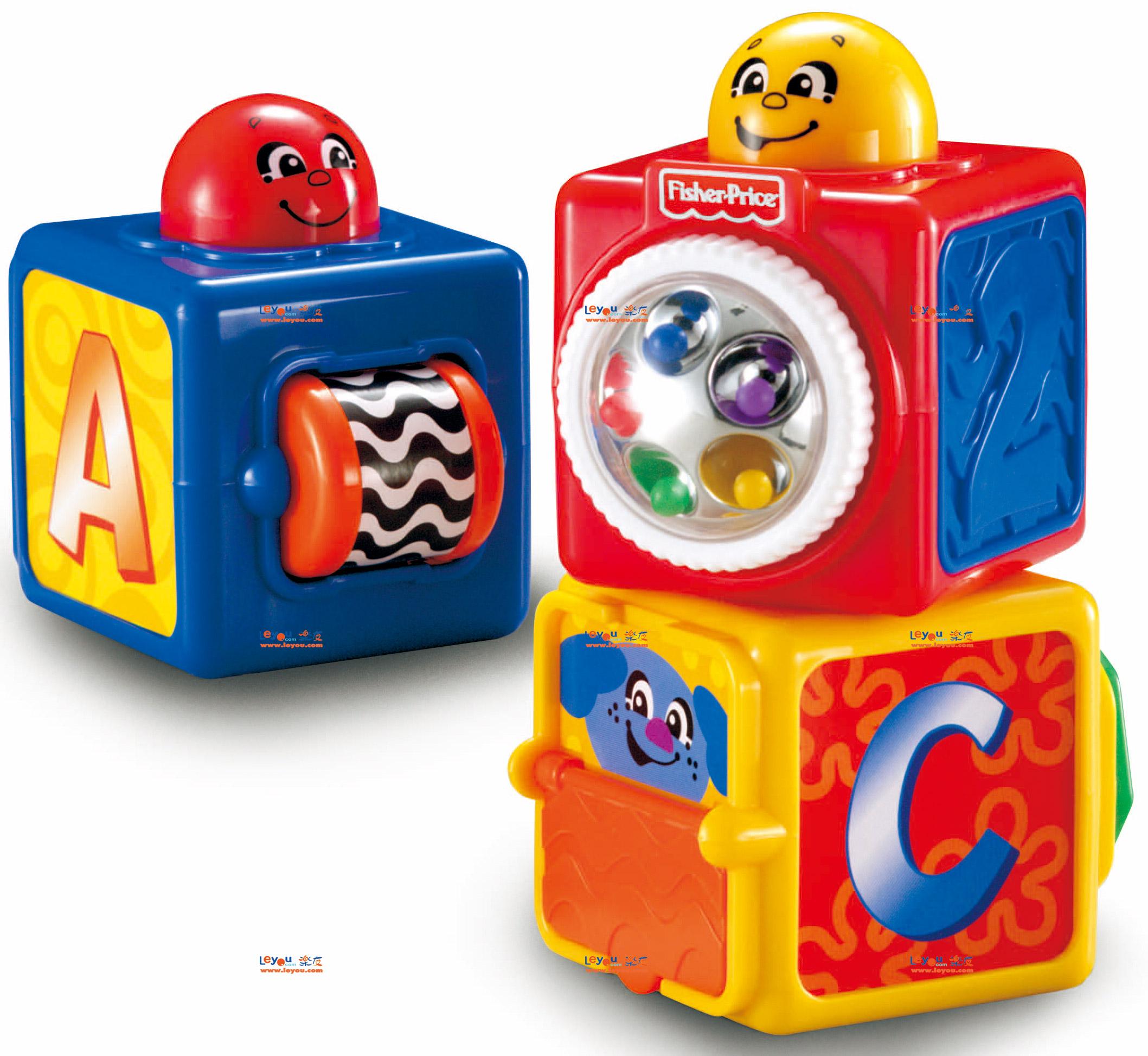费雪(FisherPrice)叠叠方积木积木玩具堆叠益智多重机关