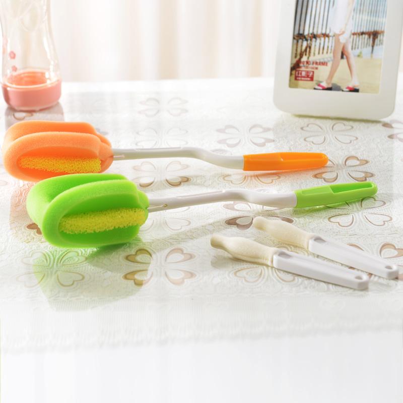 日康海棉奶瓶刷清洁奶瓶刷抗菌海绵适用各种标口宽口奶瓶颜色随机