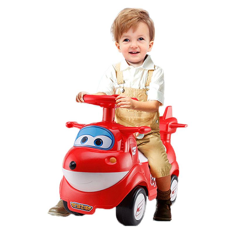 锋达儿童扭扭车带音乐滑行溜溜车宝宝四轮童车玩具超级飞侠车乐迪儿童助步车1-3岁红色