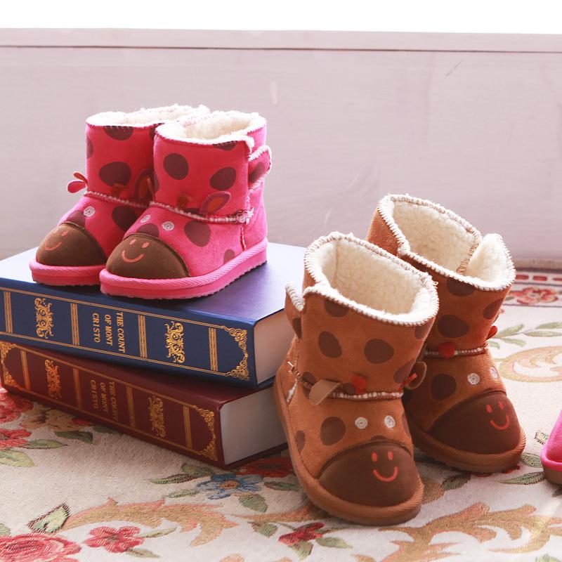 歌瑞贝儿女婴可爱宝宝靴GF154-024SH梅红15cm双