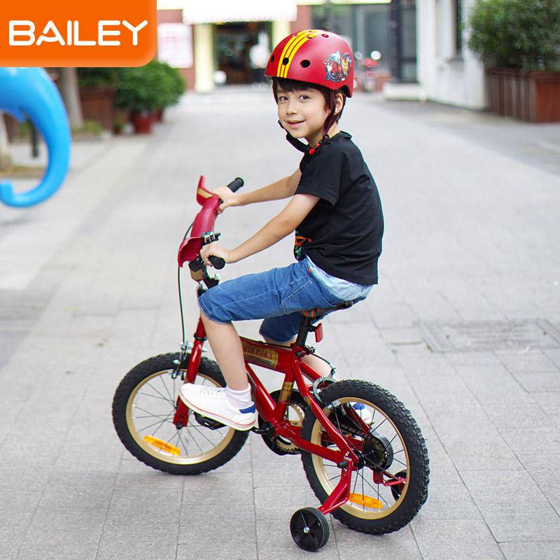 贝乐童车迪士尼系列钢铁侠音乐自行车16寸 红色