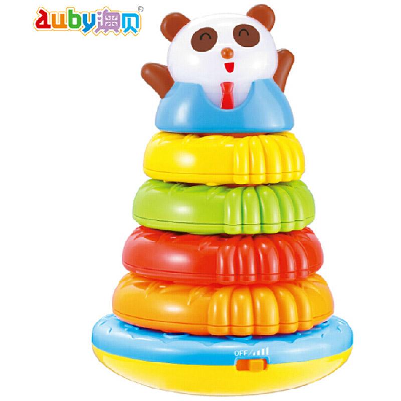 澳贝Auby熊猫叠叠圈奥贝叠叠乐宝宝婴儿童套圈音乐玩具