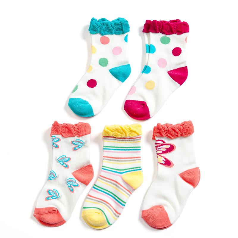 歌瑞贝儿(新)--花边公主袜/5双装GB141-020L混色12-24个月月包