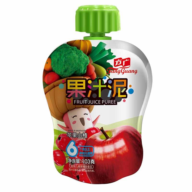 方广苹果山楂果汁泥袋装6月以上103g