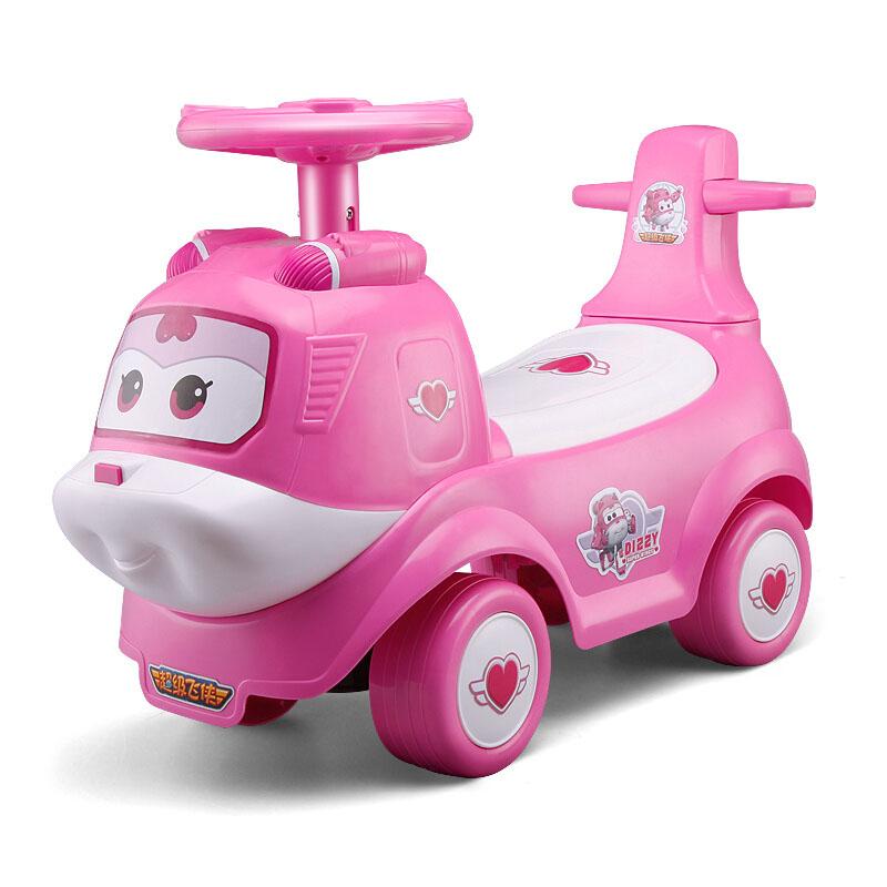 锋达超级飞侠儿童扭扭车带音乐滑行溜溜车宝宝四轮童车玩具车小爱儿童助步车1-3岁粉色