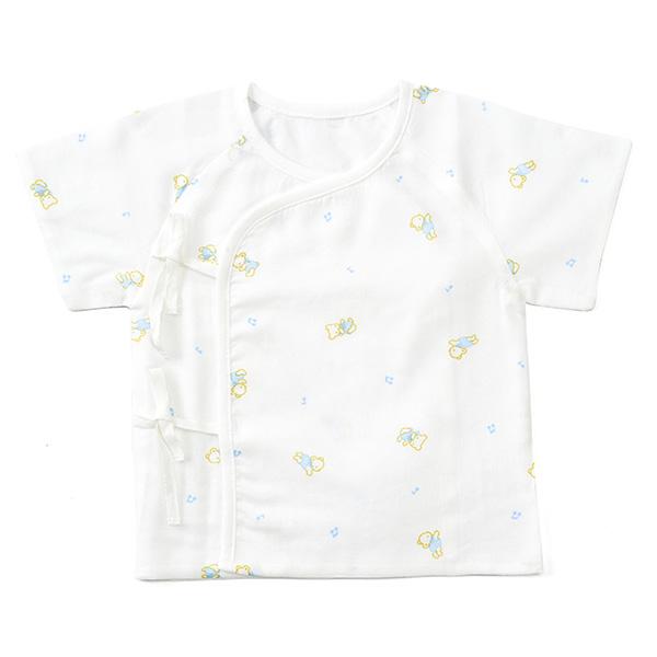 歌瑞贝儿--竹纤维纱布短袖和短袍0:1月/男孩(白-52)