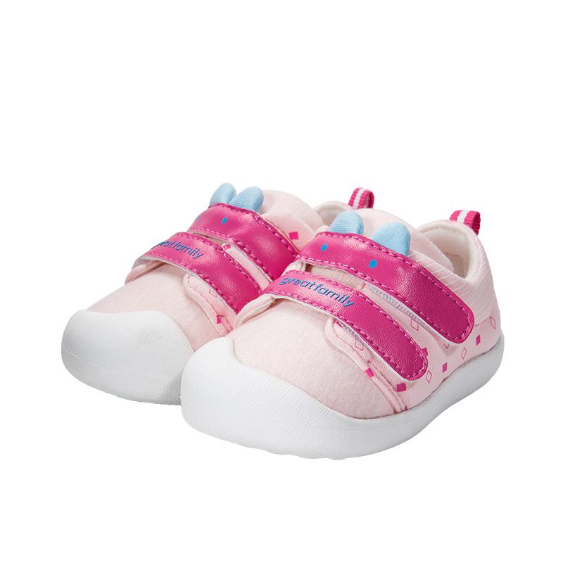 歌瑞家(greatfamily)女婴卡通宝宝鞋GB173-010SH粉11CM双