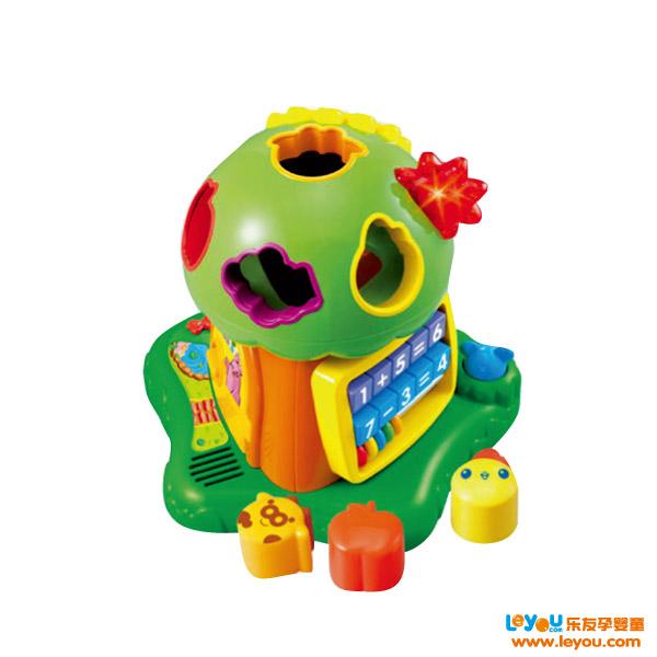 澳贝婴幼儿趣味小树积木音乐电子琴启蒙益智早教