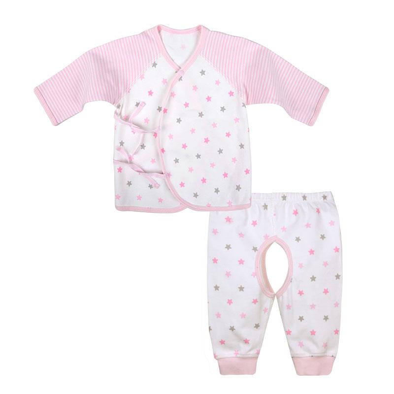 歌瑞贝儿A类女婴粉色纯棉和短袍套装