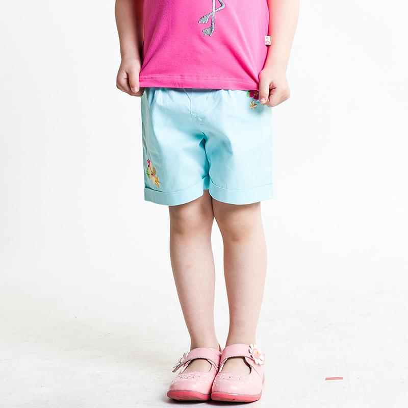 歌瑞凯儿A类女童梭织短裤