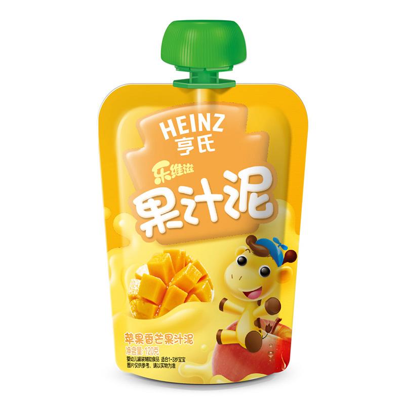 亨氏Heinz乐维滋果汁泥苹果香芒120g富含维生素C