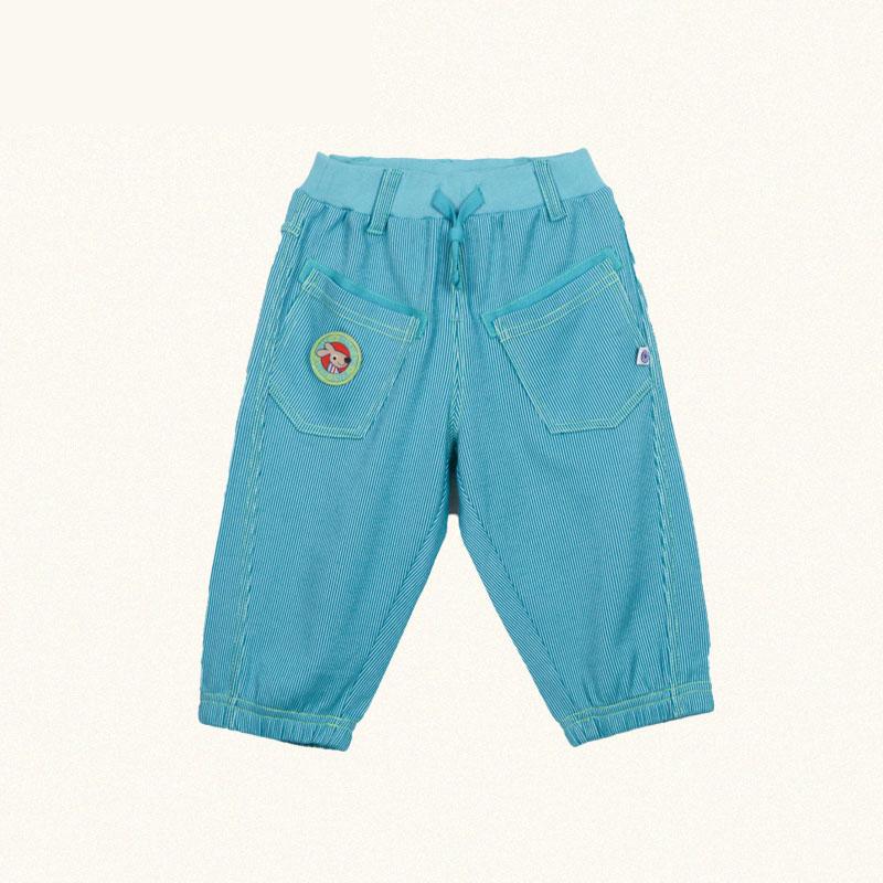 歌瑞凯儿A类男童蓝色针织七分裤